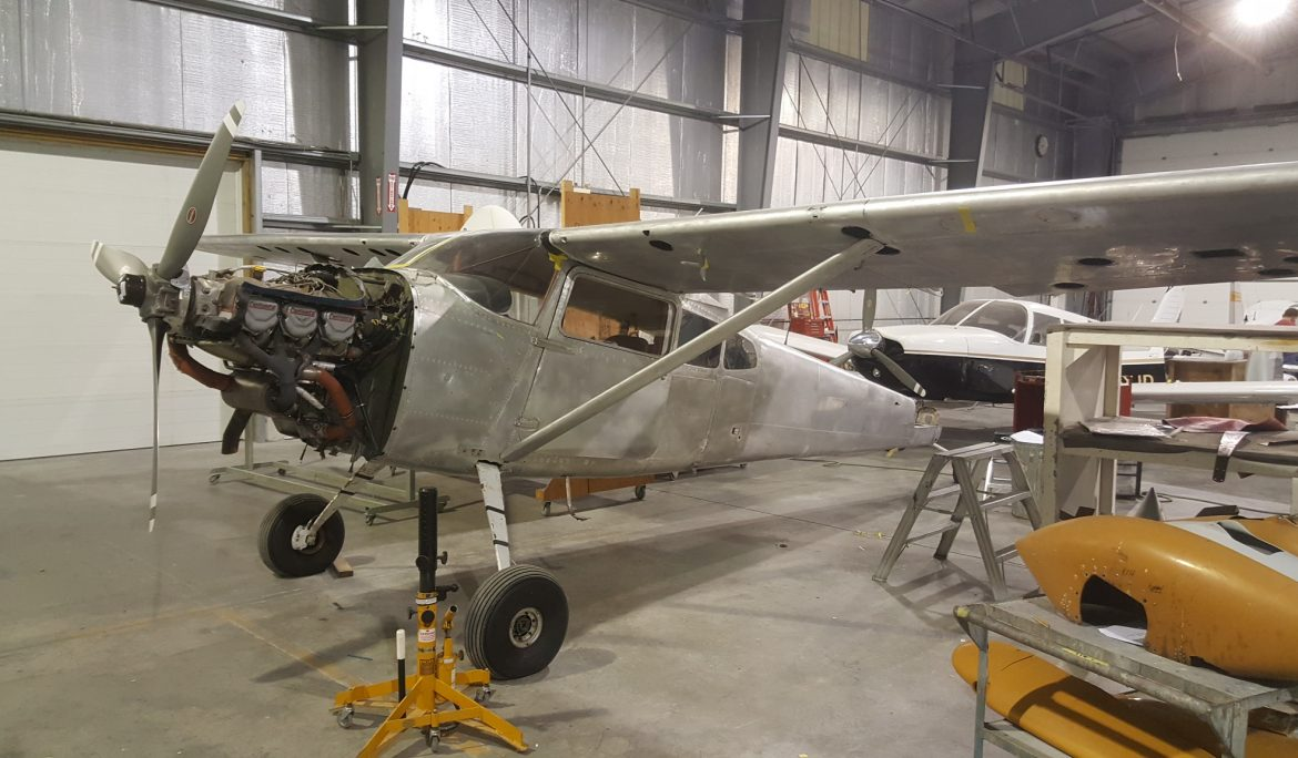Cessna 180 Skin Repairs and Paint