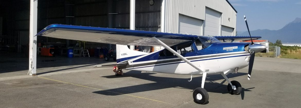 Cessna 185 Paint with Window Replacement